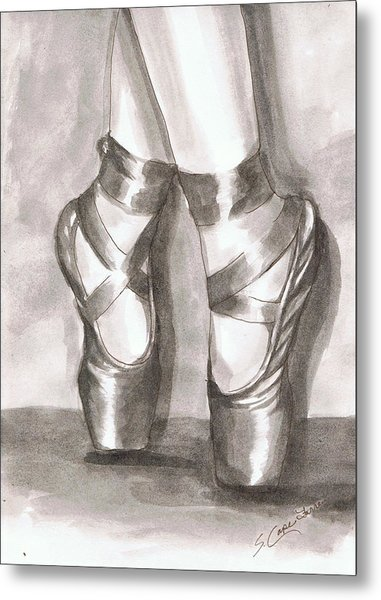 Ink Wash En Pointe Metal Print