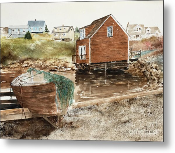Inlet At Peggy's Cove Metal Print