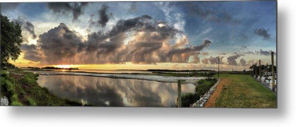 Inlet Sunrise Panorama Metal Print