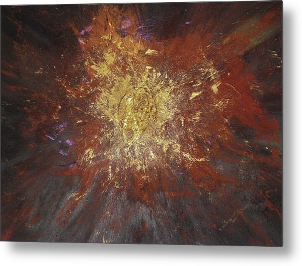 Metal Print featuring the painting Inner Fire by Michael Lucarelli