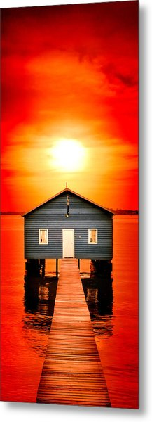 Blood Sunset Panorama Metal Print