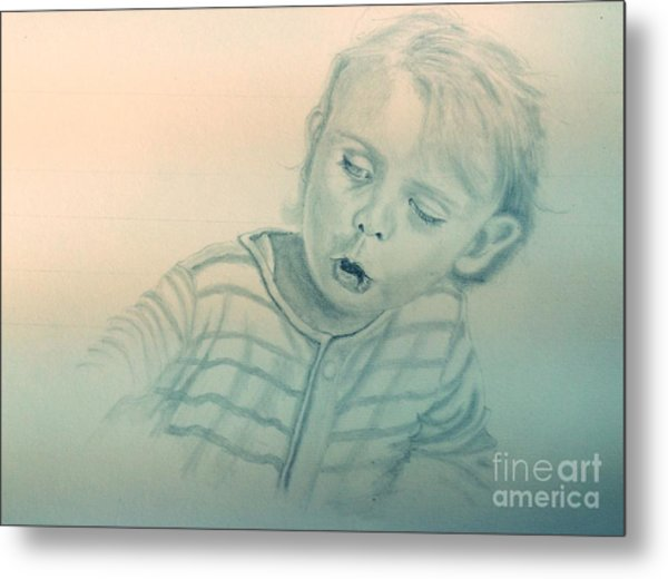 Inquisitive Child Metal Print