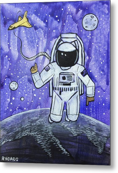 Metal Print featuring the painting Inquisitive Explorer by Nathan Rhoads