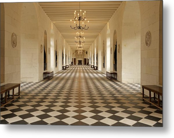 Inside Chenonceau Metal Print
