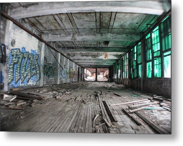 Inside Detroit Packard Plant  Metal Print