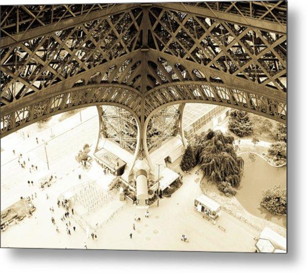 Inside Eiffel Metal Print by Patrick Rabbat