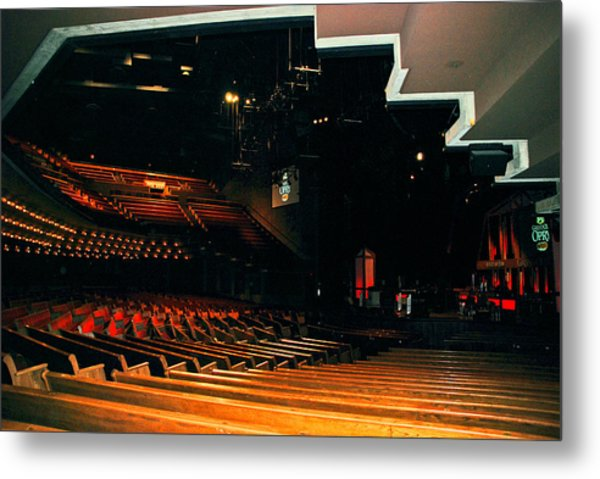 Inside Grand Ole Opry Nashville Metal Print
