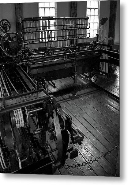 Inside Slater Mill Metal Print