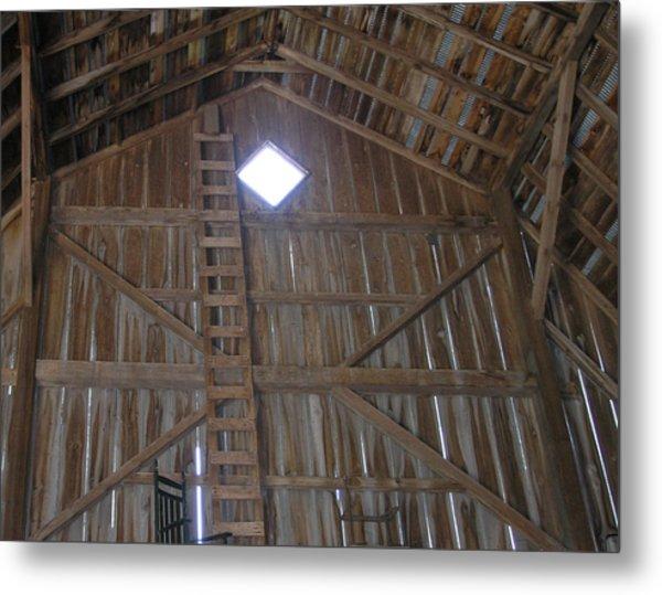 Inside The Barn Metal Print by Janis Beauchamp