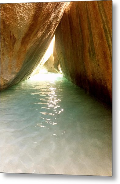 Inside The Baths On Virgin Gorda Metal Print