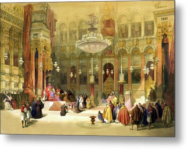 Inside The Church Of The Holy Sepulchre Metal Print