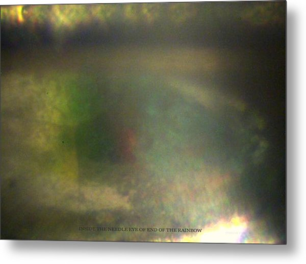 Inside The Eye Of End Of The Rainbow Metal Print