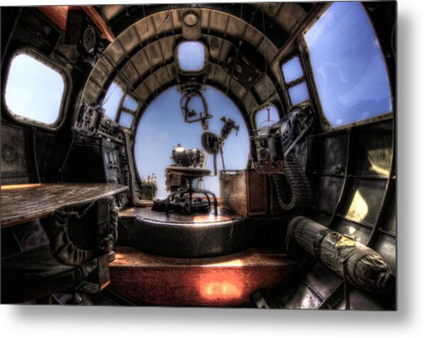 Inside The Flying Fortress Metal Print