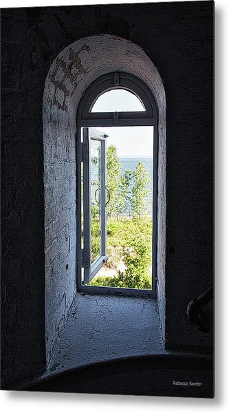 Inside The Lighthouse Metal Print