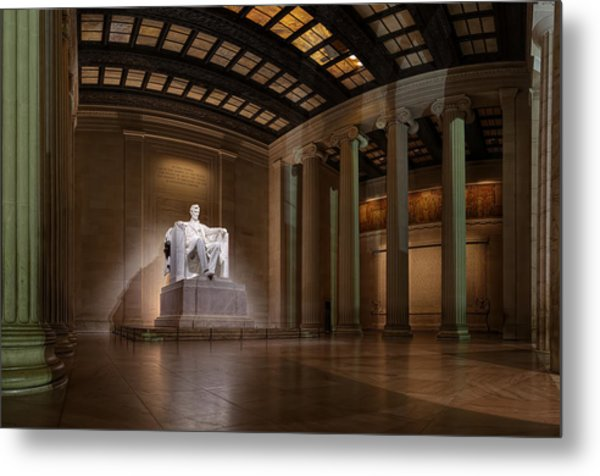 Inside The Lincoln Memorial - Custom Size Metal Print