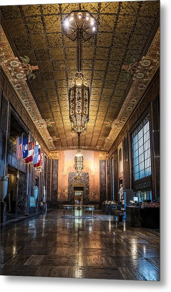 Inside The Louisiana State Capitol Metal Print