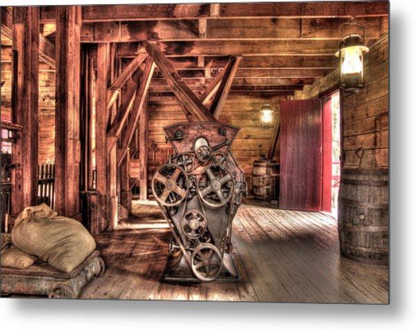 Inside The Mill Metal Print
