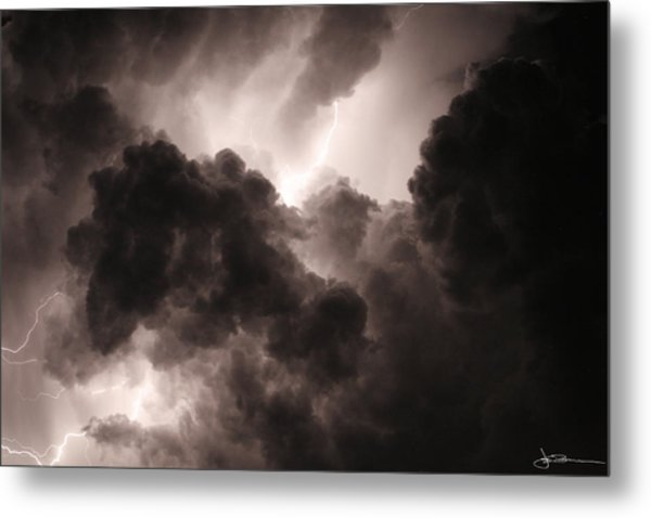 Inside The Storm Metal Print