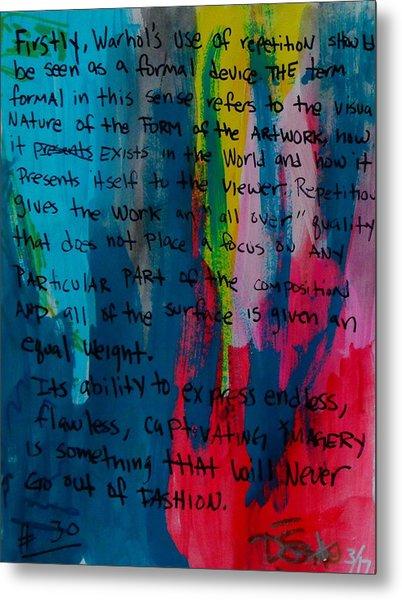 Inspiration From Warhol Metal Print