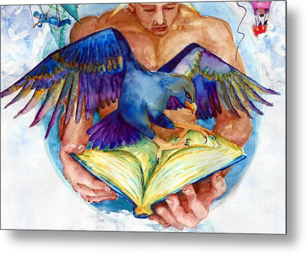 Inspiration Spreads Its Wings Metal Print