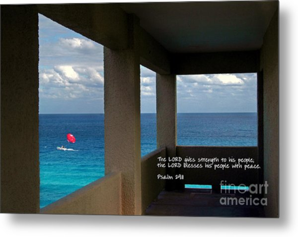 Inspirational - Picture Windows Metal Print
