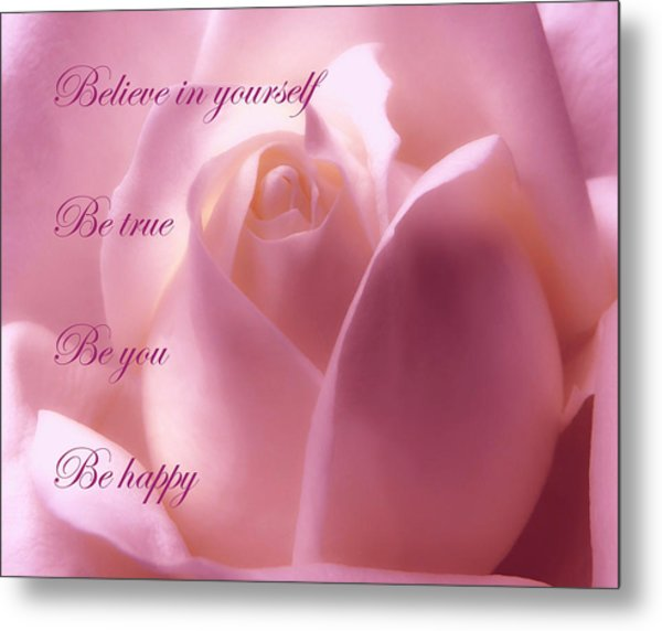 Inspirational Rose Metal Print