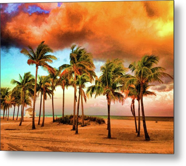 Crandon Park Beach Metal Print