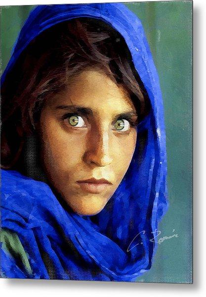 Inspired By Steve Mccurry's Afghan Girl Metal Print