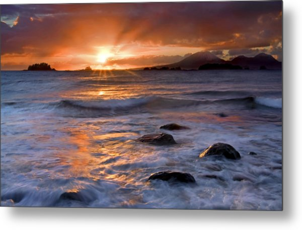 Inspired Light Metal Print