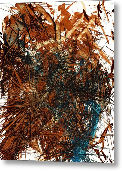 Intensive Abstract Expressionism Series 46.0710 Metal Print