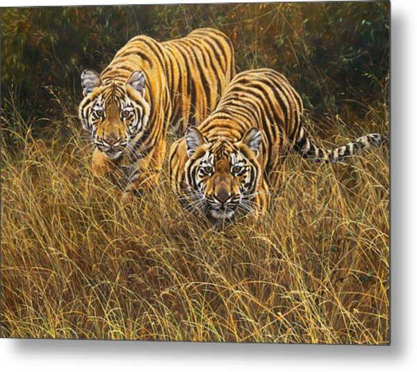 Metal Print featuring the painting Intent by Alan M Hunt