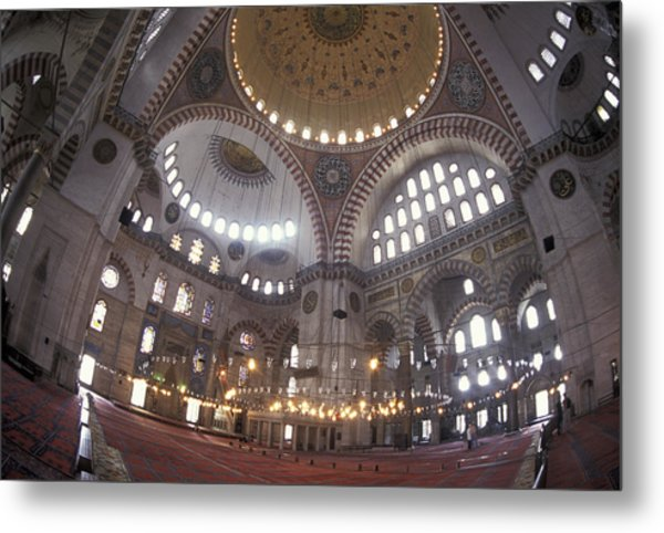 Interior Dome Of The Suleymaniye Mosque Metal Print
