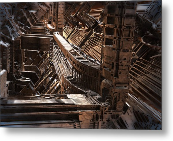 Interior Support Structure Metal Print