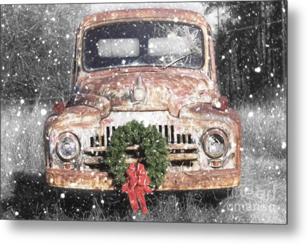 International Christmas Snow Metal Print