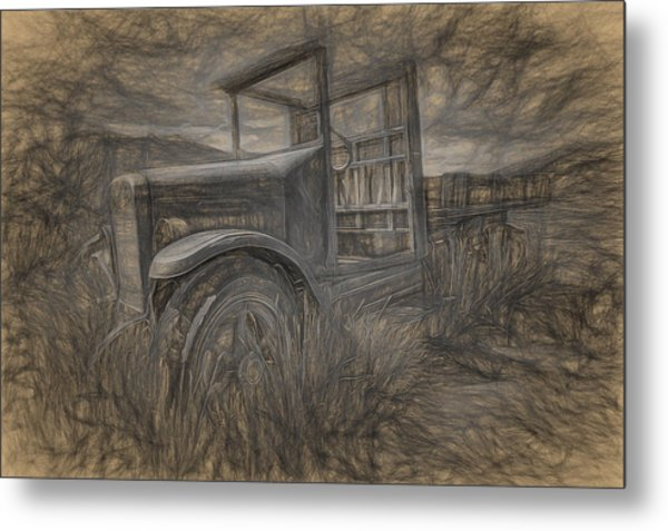 International Truck Skeleton Metal Print