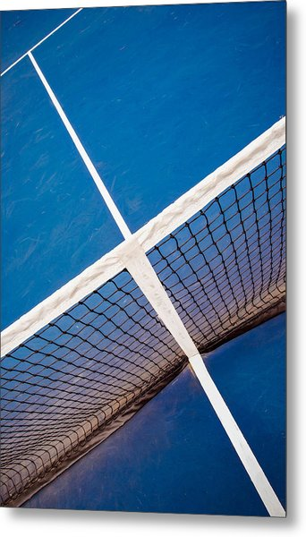 Intersections On The Tennis Court Metal Print