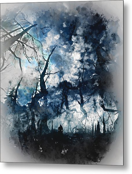 Into The Darkness - 01 Metal Print