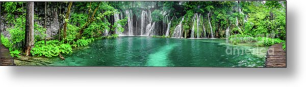 Into The Waterfalls - Plitvice Lakes National Park Croatia Metal Print