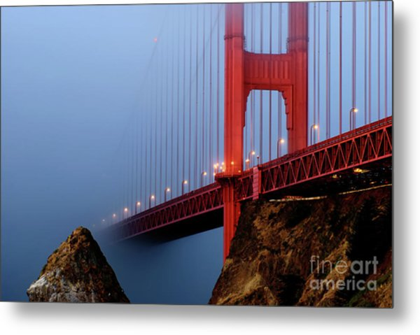 Into The Fog Metal Print by Joseph Greco
