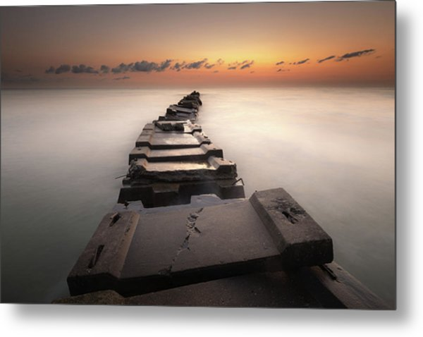 Into The Golden Morning Metal Print
