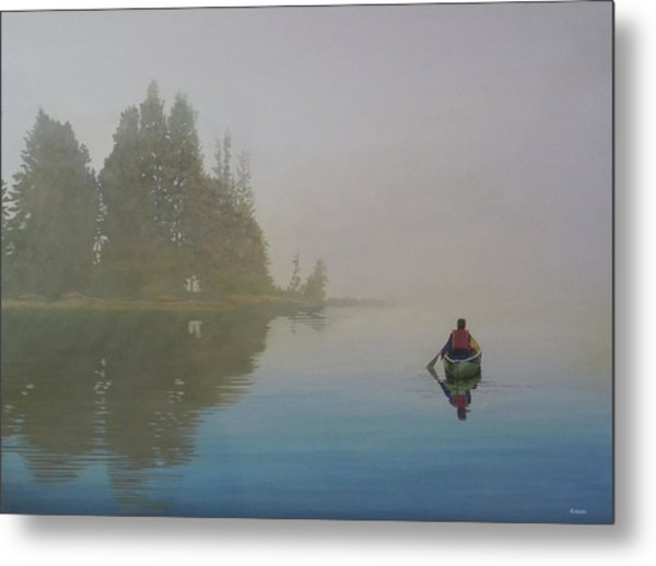 Into The Mistic Metal Print