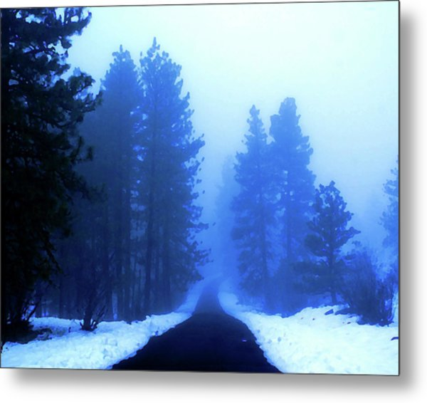 Into The Misty Unknown Metal Print