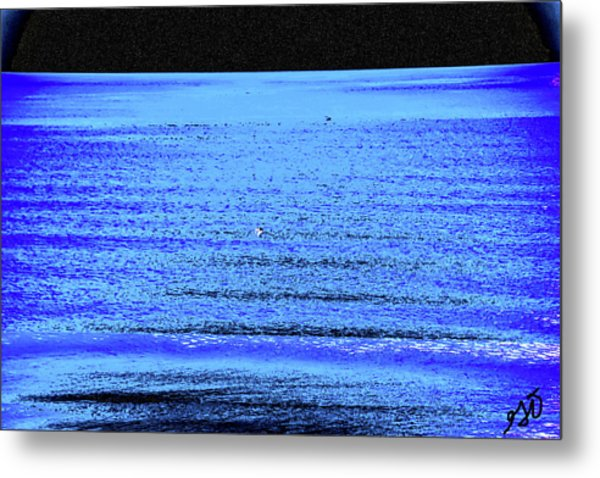 Into The Ocean Void Metal Print