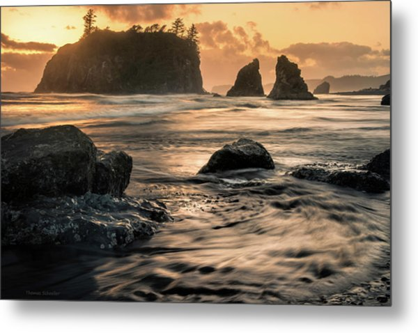 Metal Print featuring the photograph Into The Sea - Ruby Beach by Expressive Landscapes Fine Art Photography by Thom