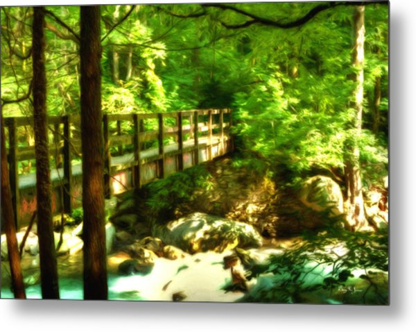 Into The Shadows - Smoky Mountains Metal Print by Barry Jones