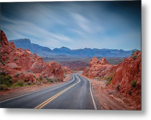 Into The Valley Of Fire Metal Print