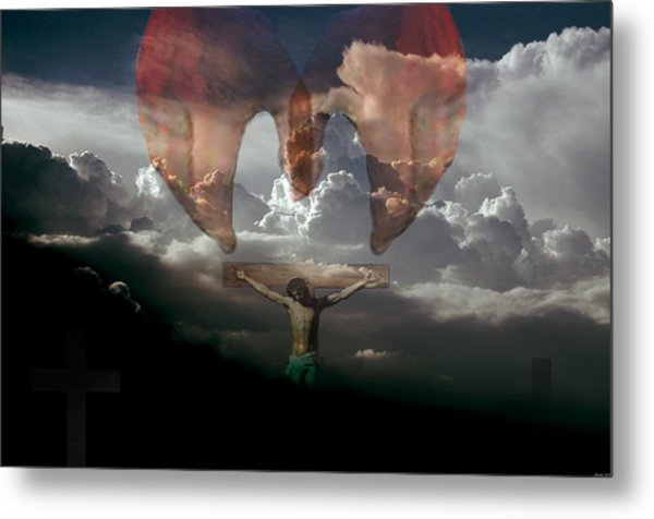 Into Thy Hands I Come Metal Print by Evelyn Patrick