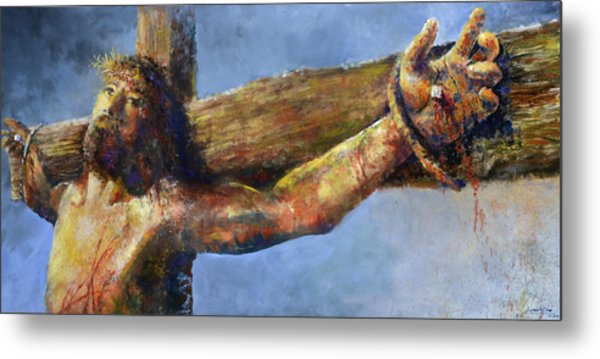 Into Your Hands Metal Print