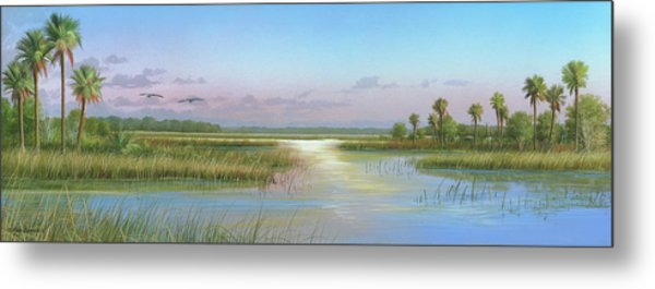 Intracoastal Glimmer Metal Print