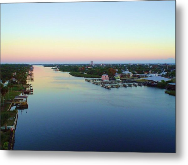 Intracoastal Rainbow Sky Metal Print